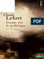 Essais Sur Le Politique (XIXe-XXe siècles) by Claude Lefort (z-lib.org)