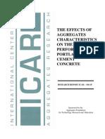 aggregates Characteristics