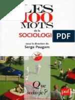 Les 100 Mots de La Sociologie Serge Paugam Iprme Com