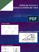 PPT del relator con los tipos de juntas y explicaciones de usos