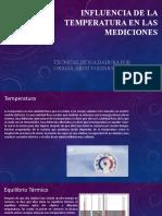 PTT de los contenidos cálculos correctivos  INFLUENCIA DE LA TEMPERATURA EN LAS MEDICIONES