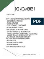 cours de théories de mécanismes 2016