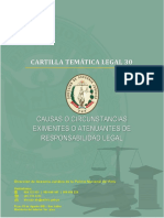 CARTILLA 30 - CAUSAS O CIRCUNSTANCIAS EXIMENTES O ATENUANTES DE RESPONSABILIDAD LEGAL