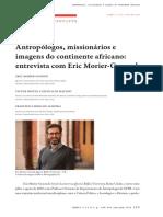 ANTROPÓLOGOS, MISSIONÁRIOS E IMAGENS DO CONTINENTE AFRICANO - ENTREVISTA COM ERIC MORIER-GENOUD
