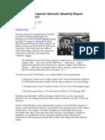 TARP Special Inspector Generals Quarterly Report Who Benefits
