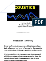 Architectural Acoustics I