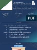 Thème 5 Les contrats sur le fonds de commerce - droit des affaires PPT (1)
