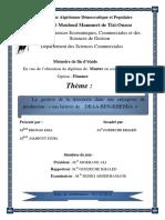 La Gestion de La Trésorerie Dans Une Entreprise de Production « Cas Laiterie de DRAA-BEN-KHEDDA »