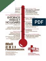 PROGRAMA cultural clínico - abril 2011