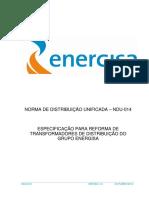 NDU 014 Especificação para Reforma de Transformadores de Distribuição do Grupo Energisa