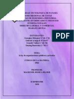Ley de Organizaciones Publicas y Privadas