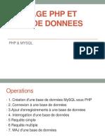 3.Le Langage PHP et DB