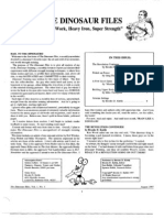 Dino Files, Issue 1 - Aug 1997