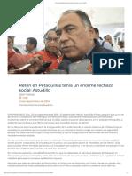 23/09/2019  Retén en Petaquillas tenía un enorme rechazo social_ Astudillo