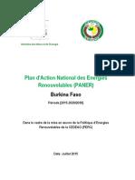 Burkina Faso Plan d Actions National Pour Les Energies Renouvelables