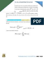 3.3 Distribucion de probabilidad Binomial