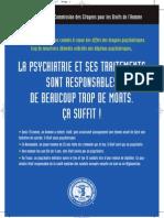 La psychiatrie et ses traitements - trop de morts plus de contrôle