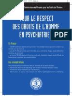 Pour le respect des droits de l'homme en psychiatrie