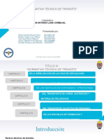 Presentación Grupo #3 Normas Tecnicas de Transito