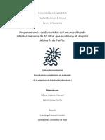 Preponderancia de Escherichia Coli en Urocultivo de Infantes Menores de 10 Años, Que Acudieron Al Hospital Albina R. de Patiño.