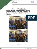 Il coro dell'Università di Reggio Calabria vince Unincanto - Strettoweb.it, 15 giugno 2021