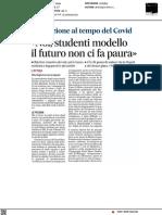 Noi, studenti modello, il futuro non ci fa paura - Il Mattino del 16 giugno 2021