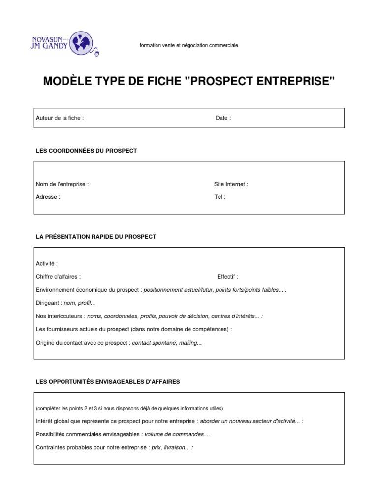 Populaire fiche-prospection PU22
