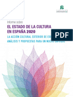 Informe sobre el estado de la Cultura 2020_La acción cultural exterior de España_Análisis y propuestas para un nuevo enfoque