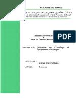 M05 Utilisation de l'Outillage Et Equipement Mécanique FGT-TFI