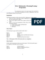 Syllabus MSc Math Programme