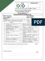 examen de fin de module n.1
