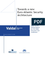 Towards a new Euro-Atlantic Security Architecture