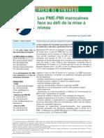 Les PME-PMI marocaines face au dأ©fi de la mise أ niveau
