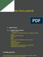 2º Examen físico general