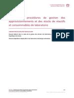 OPP ERA Approvisionnement Gestion Des Stocks Manuel de Procedures