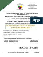 RAPPORT CONSTRUCTION PUITS MOUANKO