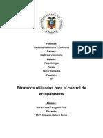 Farmacos Utilizados Para El Control de Ectoparasitos