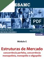 Módulo E - Aula1 - Resumo - Estruturas de Mercado