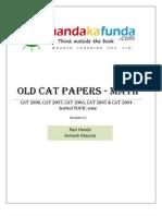 Handa Ka Funda - Old CAT Papers - Maths