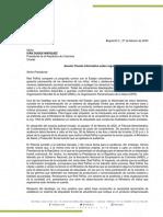 Carta Presidencia Etiquetado 27022019