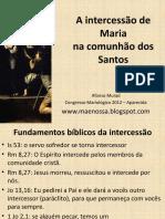 A intercessão de Maria na Comunhão dos Santos - Afonso Murad