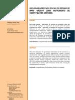 Artigo - Jacqueline Campos Vieira - Titulo_ O Uso dos Incentivos Fiscais do Estado de Mato Grosso Como Instrumento de Competição de Marcado.