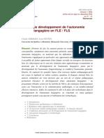 Claude Germain Facteur de développement de l'autonomie langagière en FLE FLS