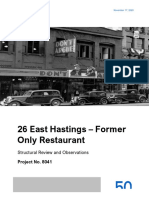 26 E Hastings - The Only - Structural Safety Assessment Report