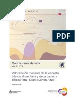 Canasta Básica Datos Del INDEC