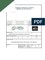 ESTUDIO DE MECANICA DE SUELOS Y GEOTECNIA CLINICA