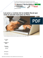 Los pros y contras de la medida fiscal que viola el secreto bancario en Perú _ LexLatin