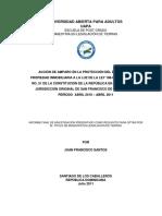 Acción de Amparo en La Protección Del Derecho de Propiedad Inmobiliaria a La Luz de La Ley 108-05 y El Artículo No. 51 de La Constitución