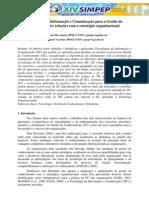 Tecnologia da Informação e Comunicação para a Gestão do Conhecimento - relações com a estratégia organizacional