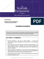 scottish parliment e-tourism